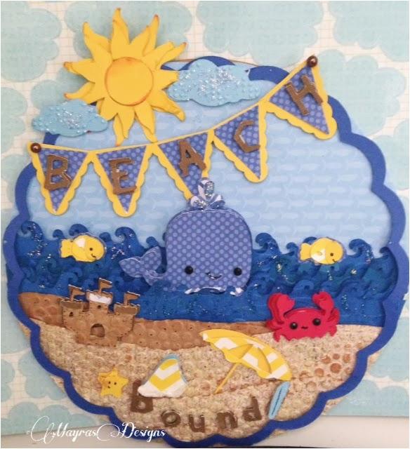 beach themed birthday card