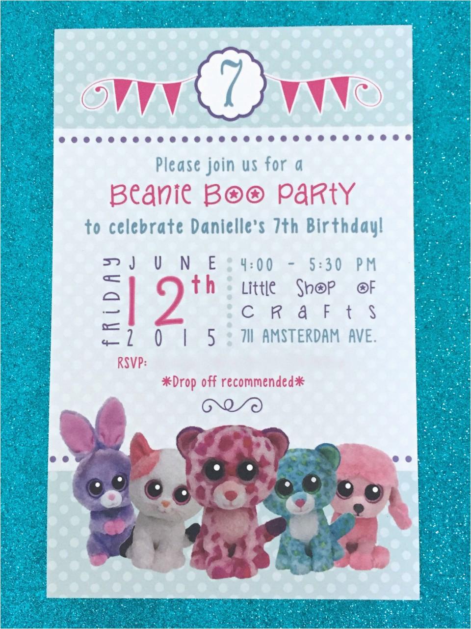 Beanie Boo Birthday Invitations Beanie Boo Bonanza B Lee events