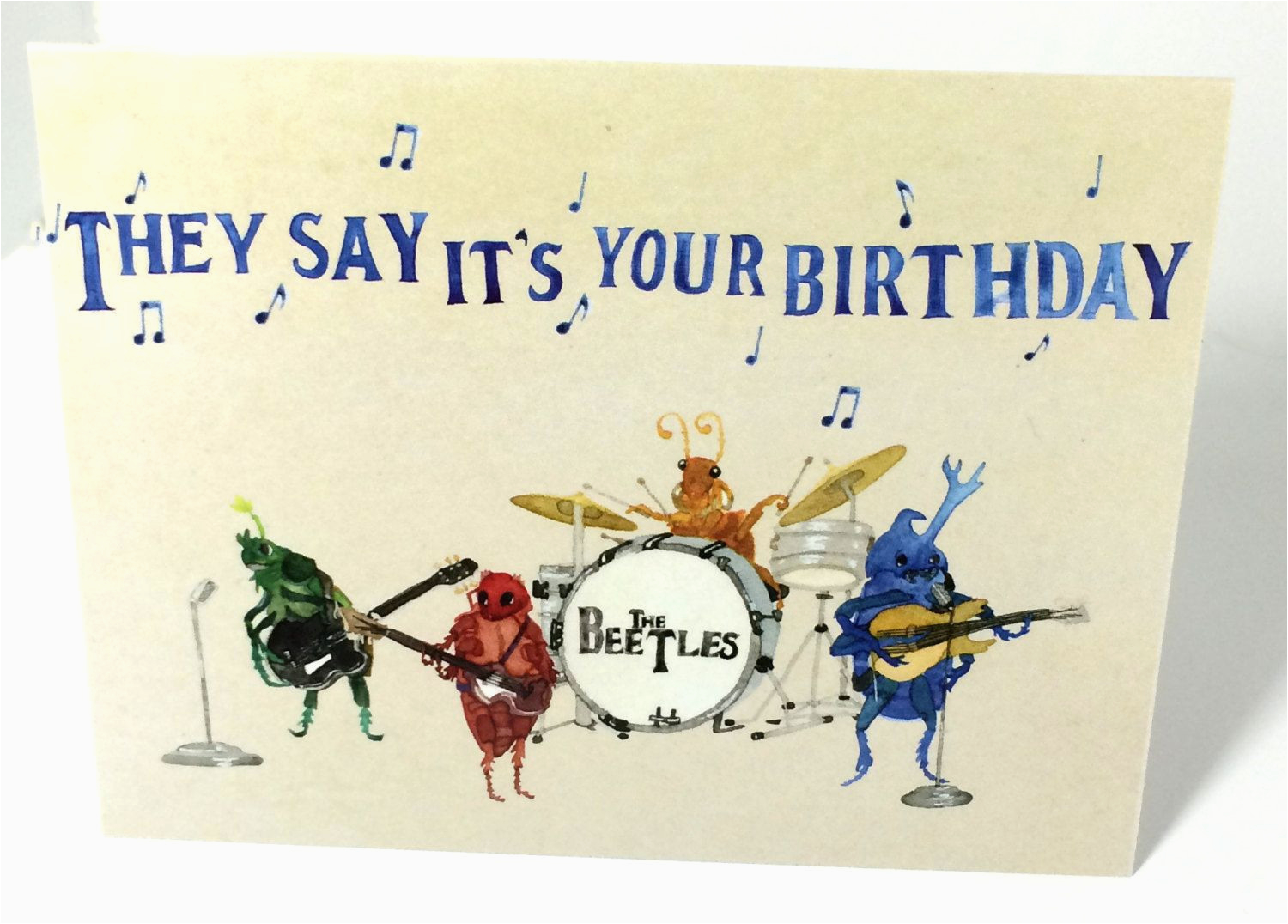 Beatles Birthday Card Musical