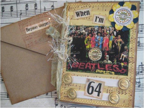 Beatles Birthday Card Musical Beatles Birthday Card when I 39 M 64 Sgt Pepper 39 S