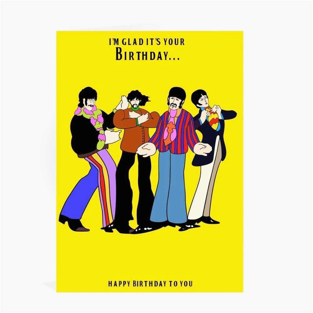 beatles birthday card lovely beatles birthday card musical beautiful intended for beatles happy birthday card regarding inspire