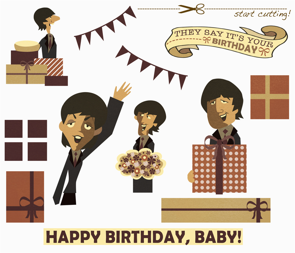 a 3d beatles birthday card