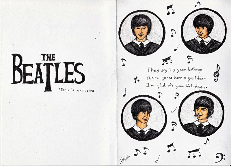 the beatles birthday card 205930670