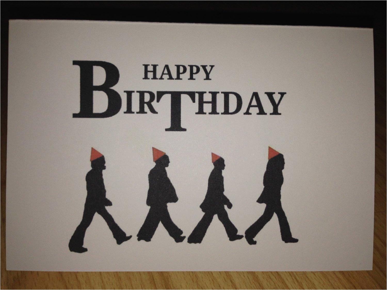 the beatles birthday card