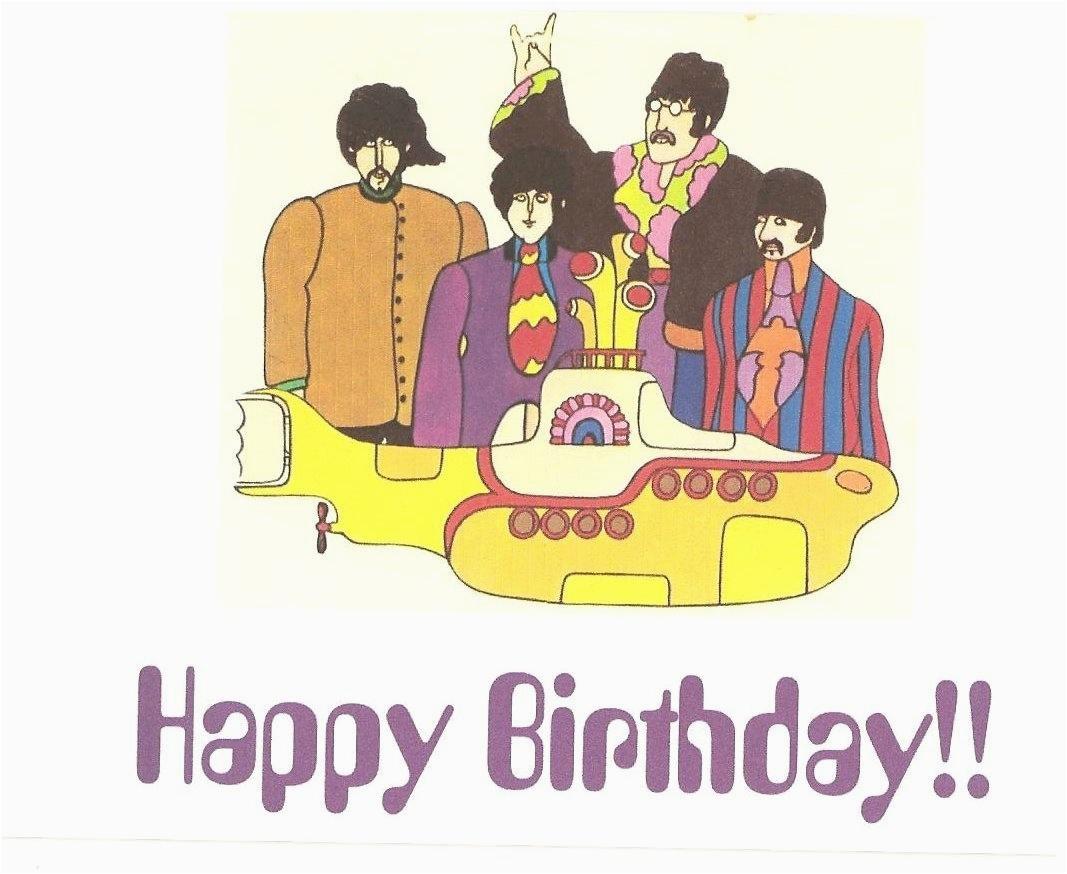 the beatles yellow submarine birthday
