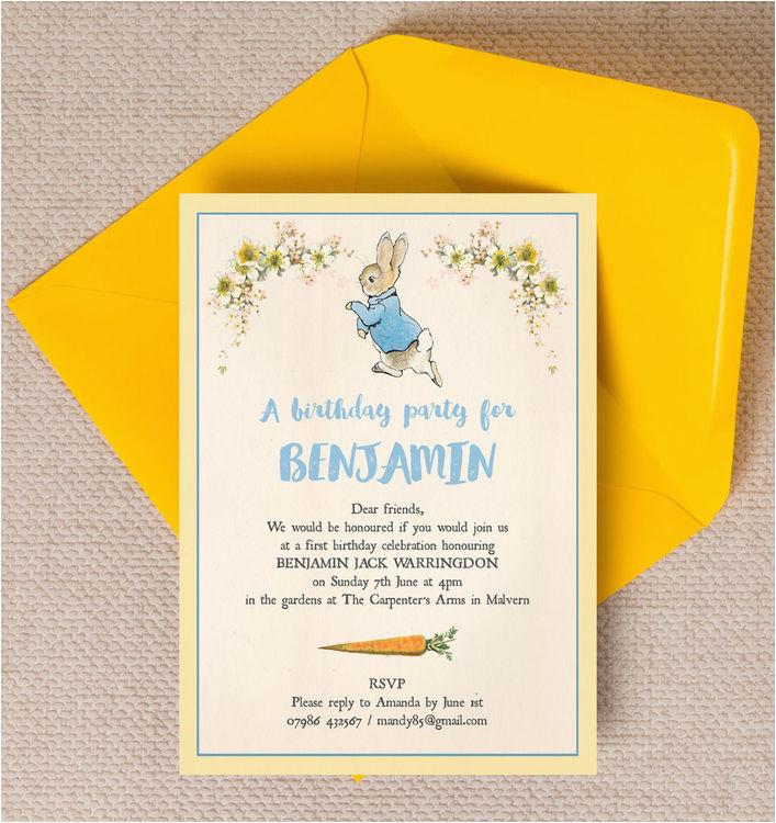 Beatrix Potter Birthday Invitations Beatrix Potter Peter Rabbit Party Invitation