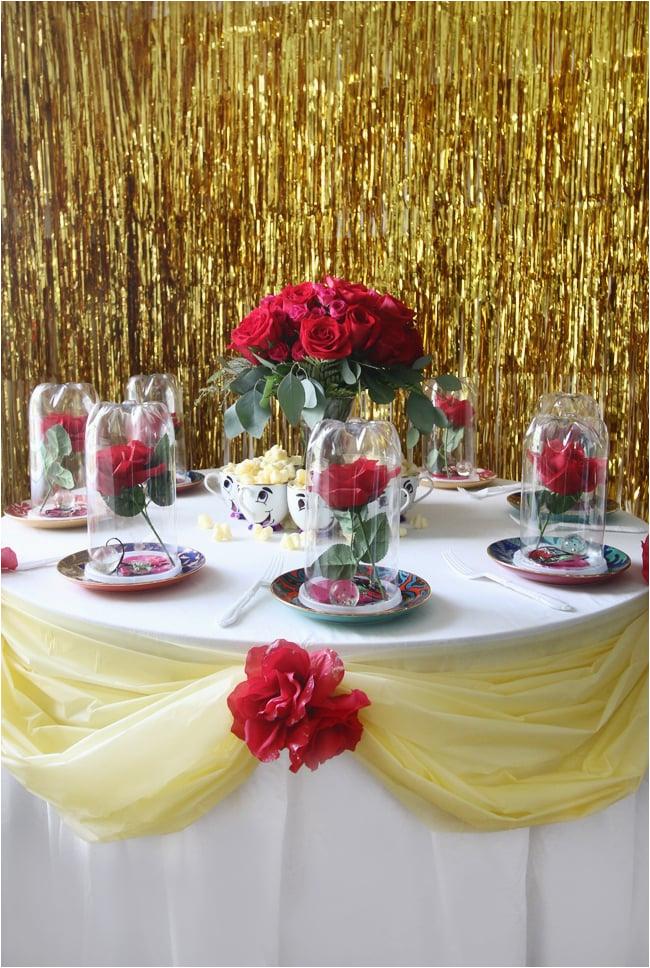 beauty beast diy birthday party 38130638