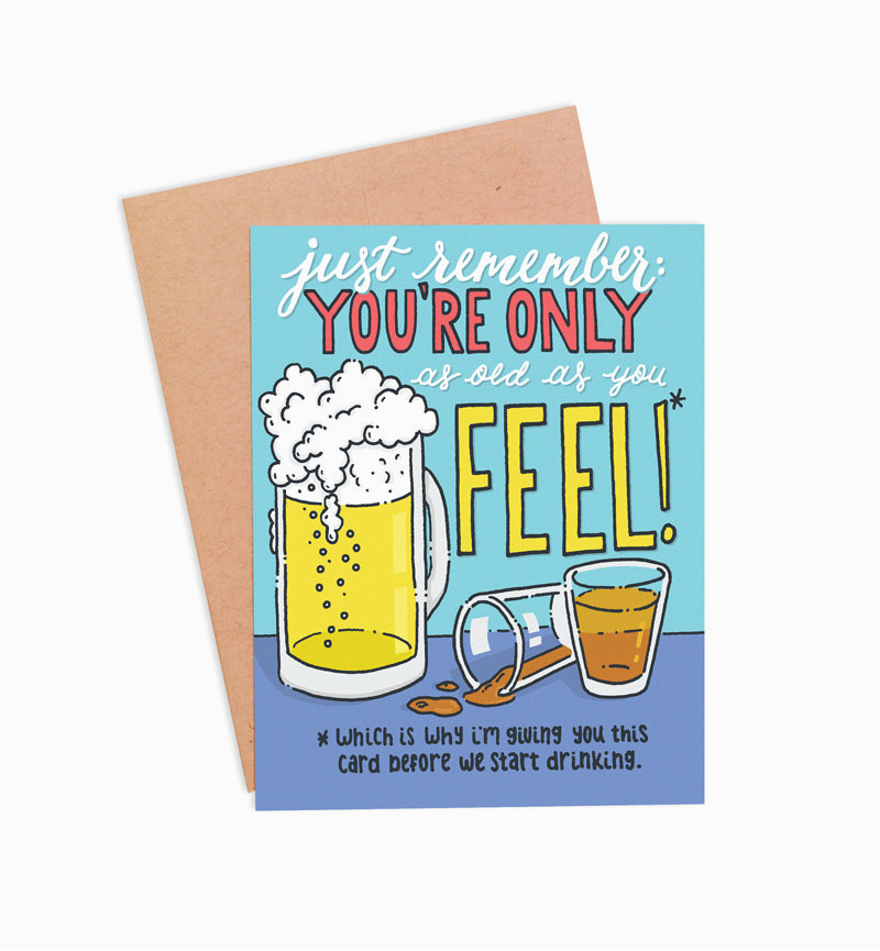 Beer Drinking Birthday Cards Funny Card Booze