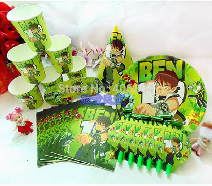 Ben 10 Birthday Decorations 2018 Party Decoration Package Set For 12