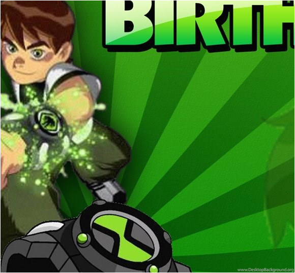 Ben 10 Birthday Invitation Cards Templates Photoshop Template Coldfiredsgn Desktop