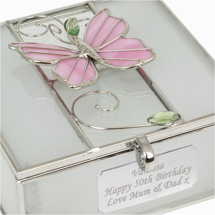 Best 50th Birthday Gifts For Her Engraved Trinket Box Find Me A Gift