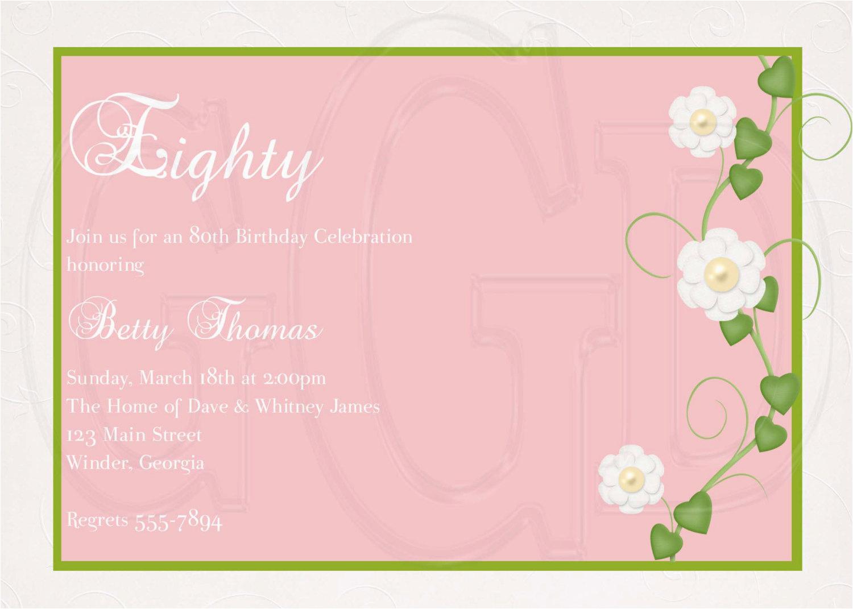 best 10 80th birthday invitation wording inspiration