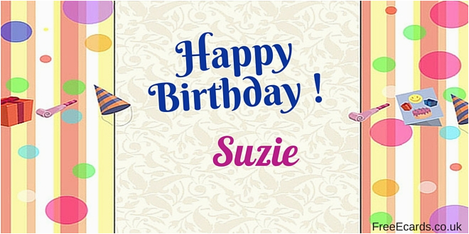 happy birthday suzie free ecards