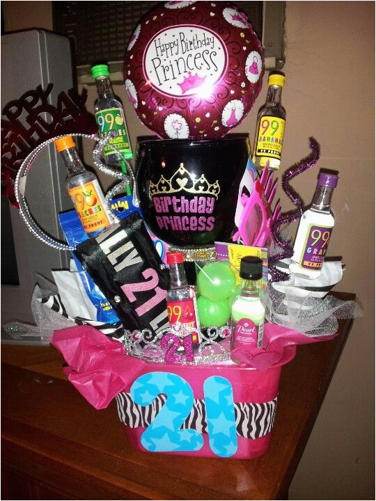 21st birthday gift for mir basket bucket with margarita