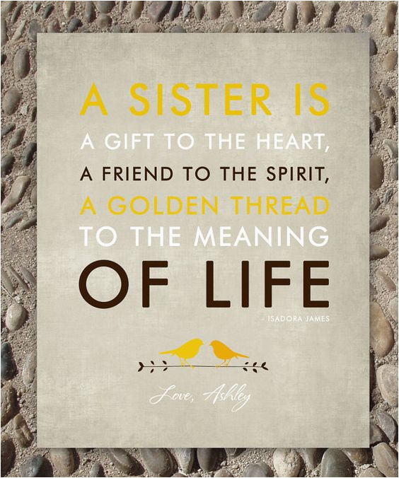 sisters gift print personalized gift for your sister