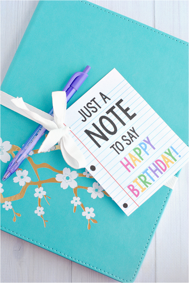 cute creative quot note quot gift idea for birthdays or teacher
