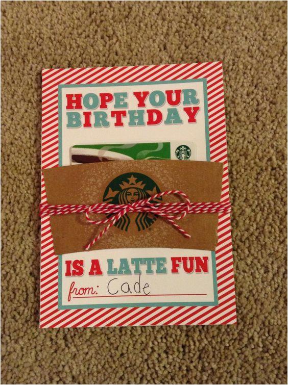 teacher birthday gift gift card to starbucks for her