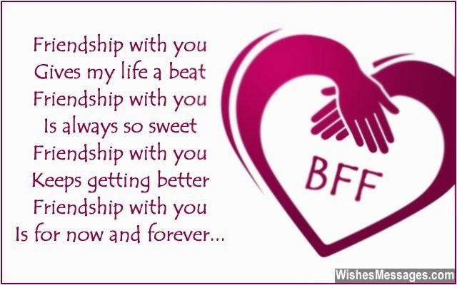Bff Birthday Card Messages Birthday Poems for Friends Wishesmessages Com