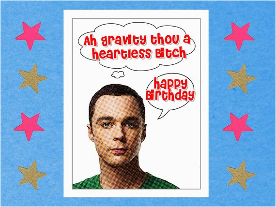 the big bang theory card funny birthday