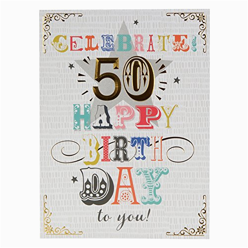 hallmark 50th birthday card 39 here 39 s to you 39 large at