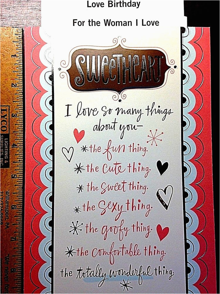 hallmark birthday card love sweetheart girlfriend