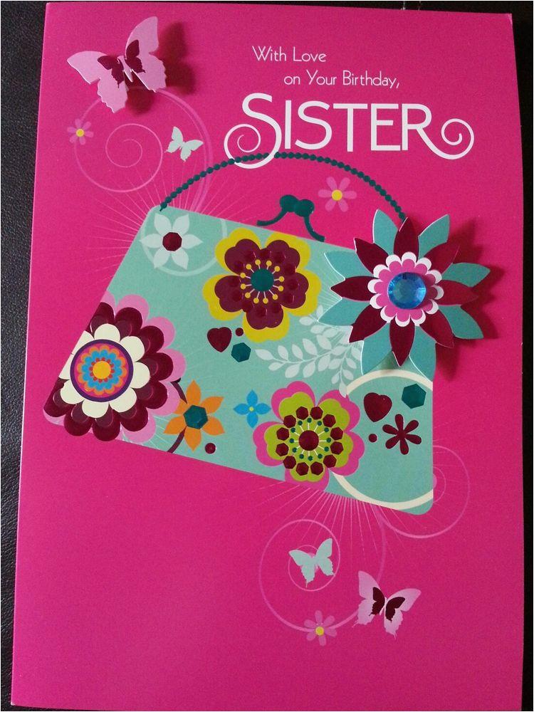 luxury 3d hallmark sister birthday card ebay