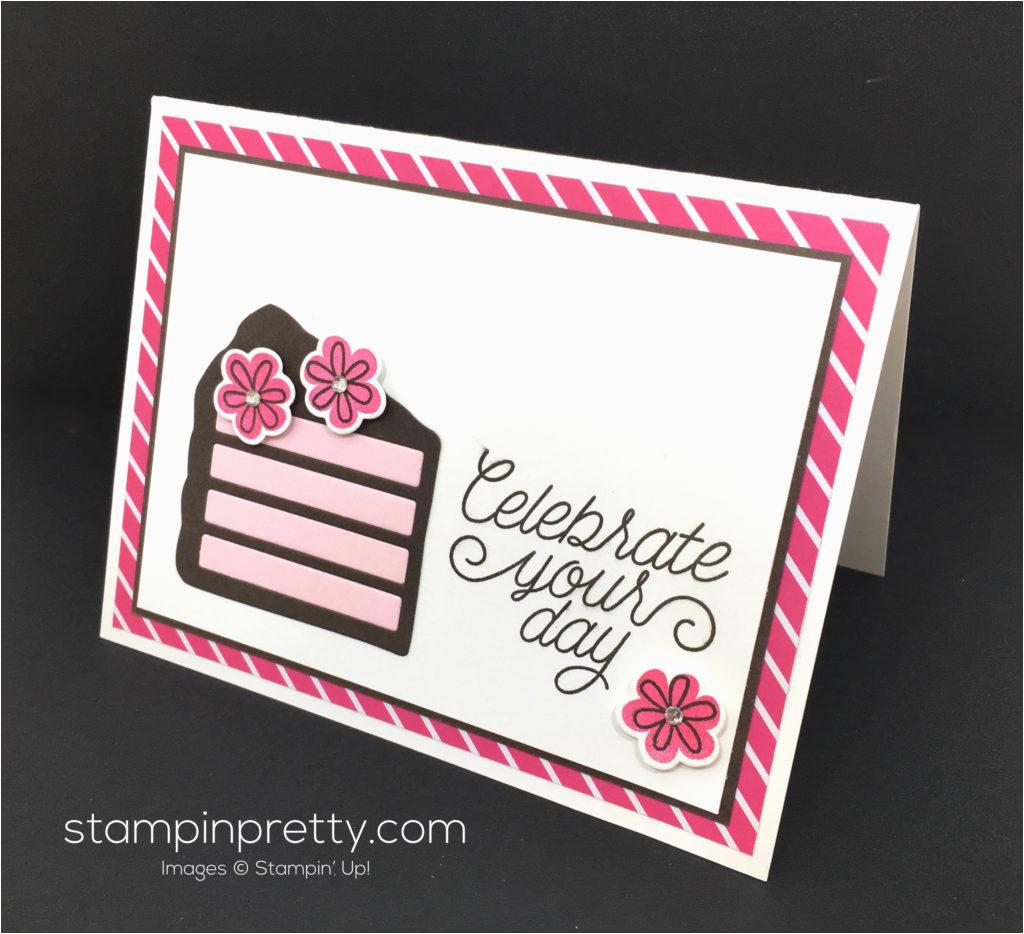 birthday card piece cake