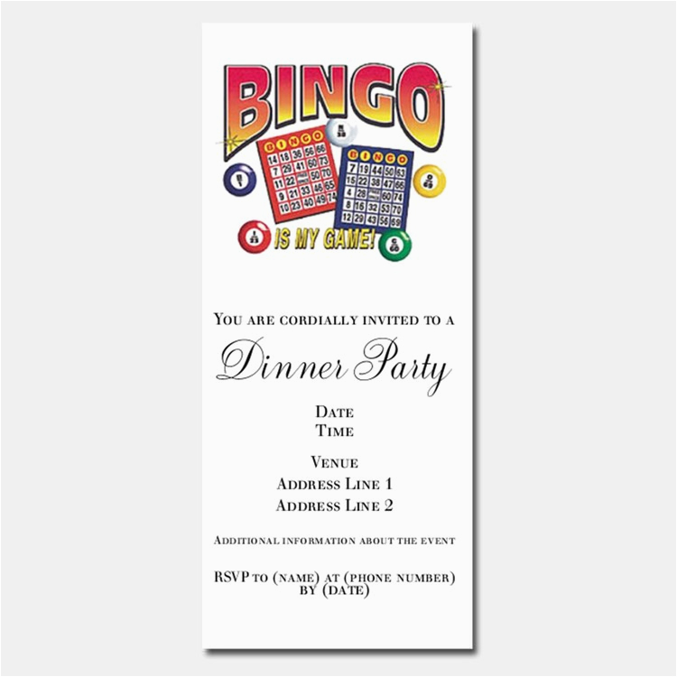 bingo stationery
