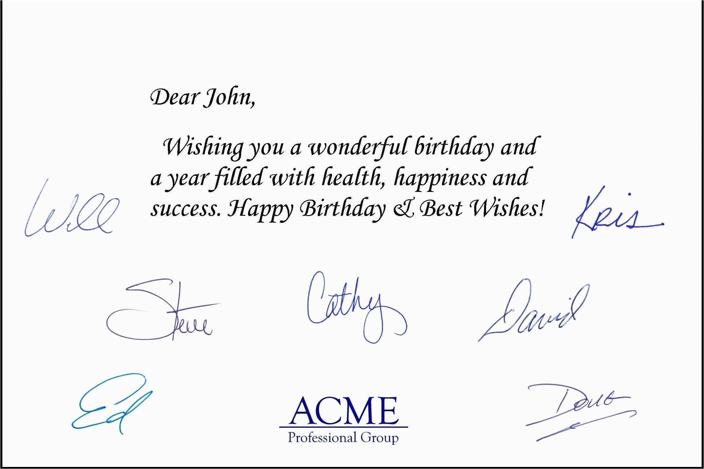 business birthday greeting card messages