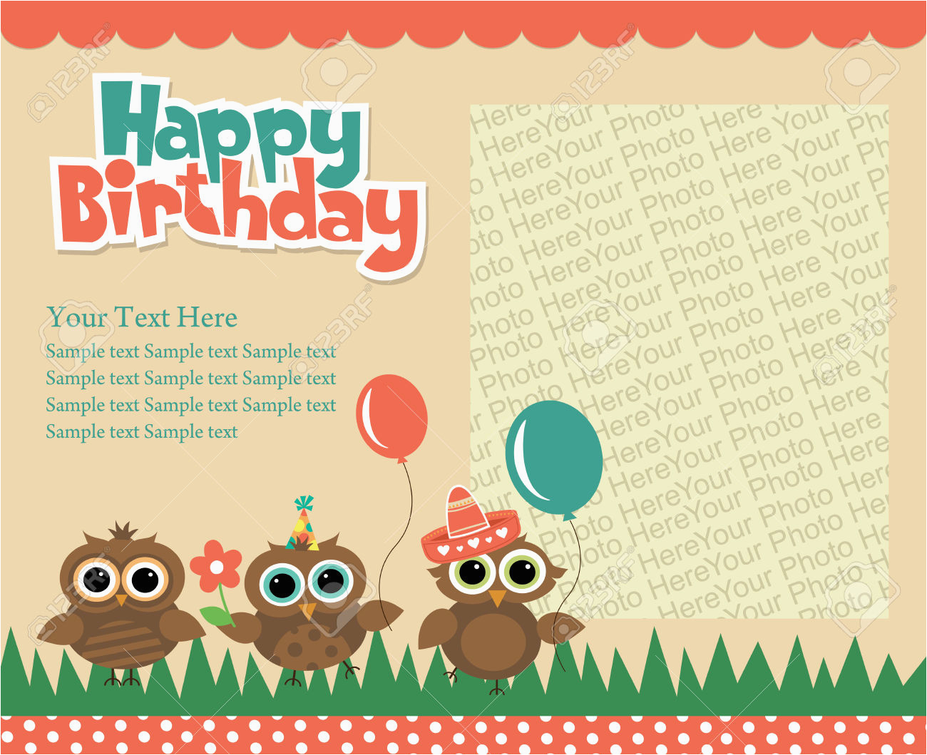 happy birthday invitation cards