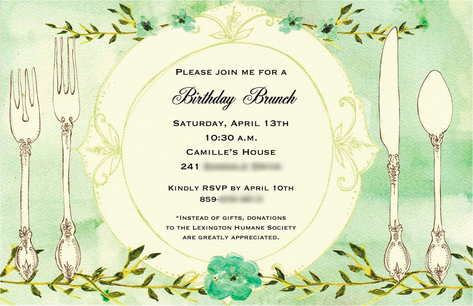 Birthday Brunch Invitation Wording For Lunch