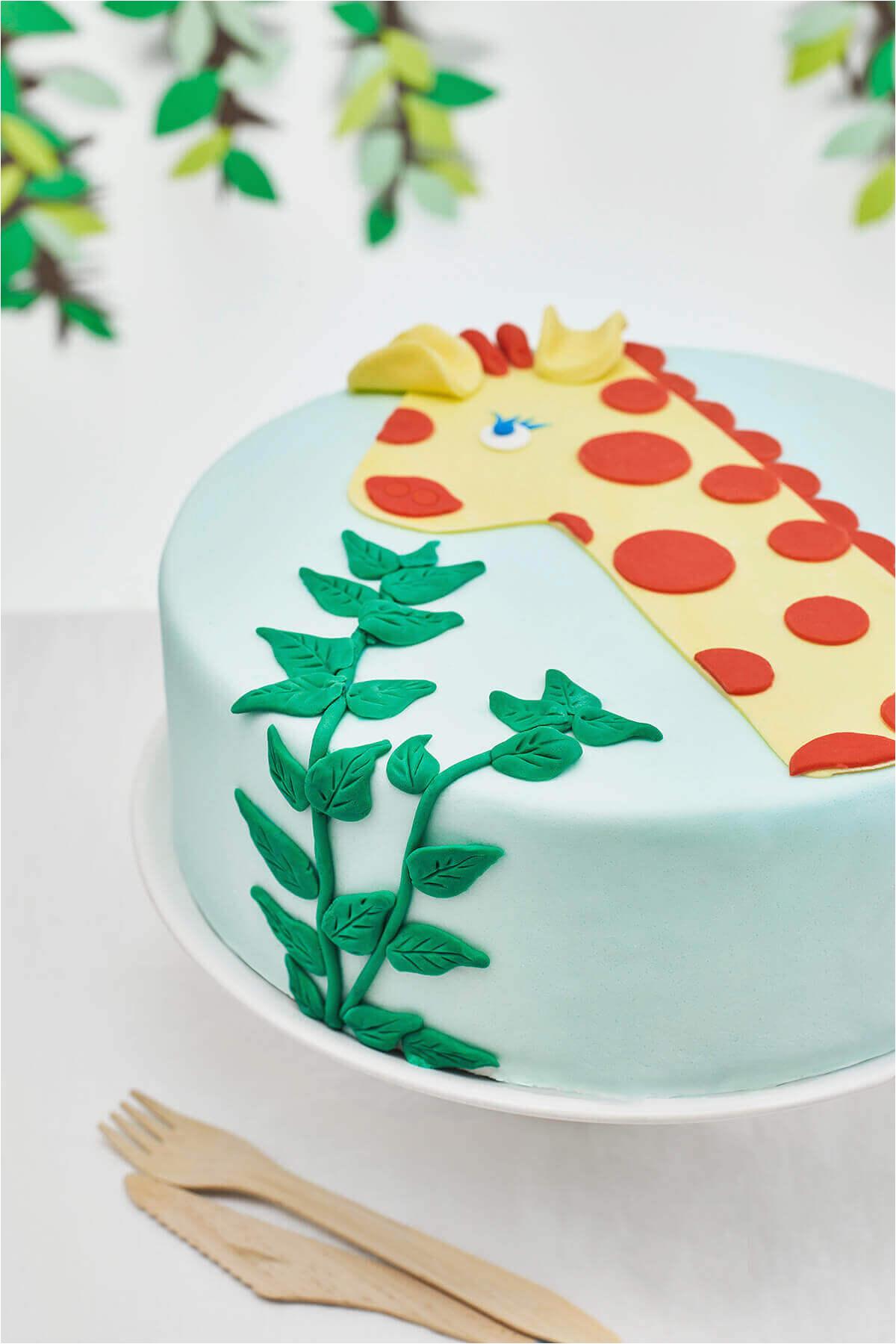 Birthday Cake Decorating Kits One Year Old Giraffe Themed Diy