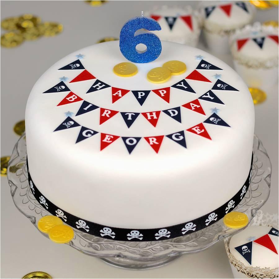 pirate birthday bunting cake decorating kit