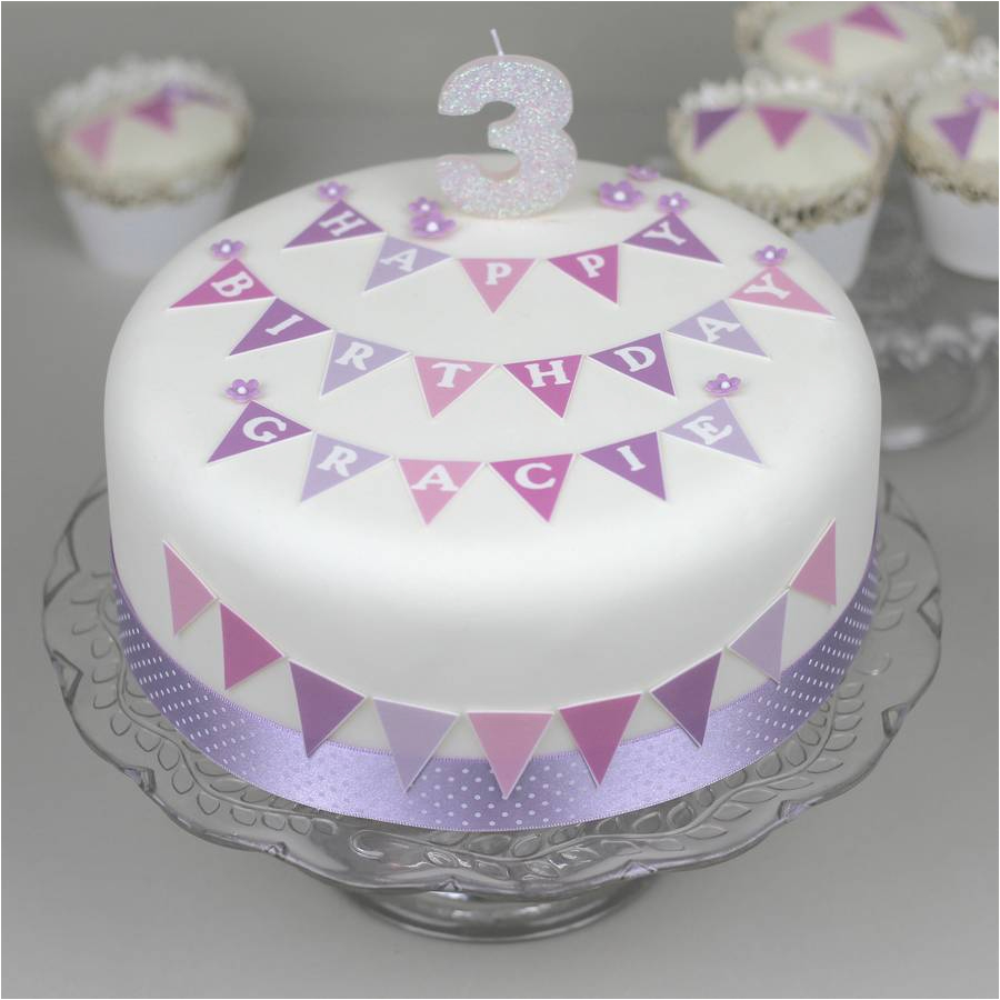 birthday bunting cake decorating kit