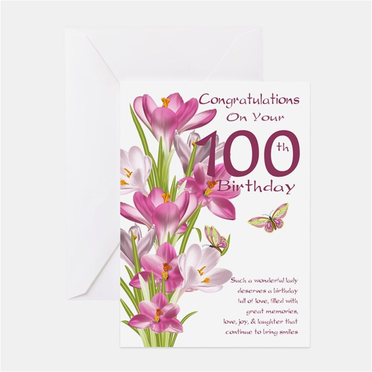 100 years old birthday greeting cards