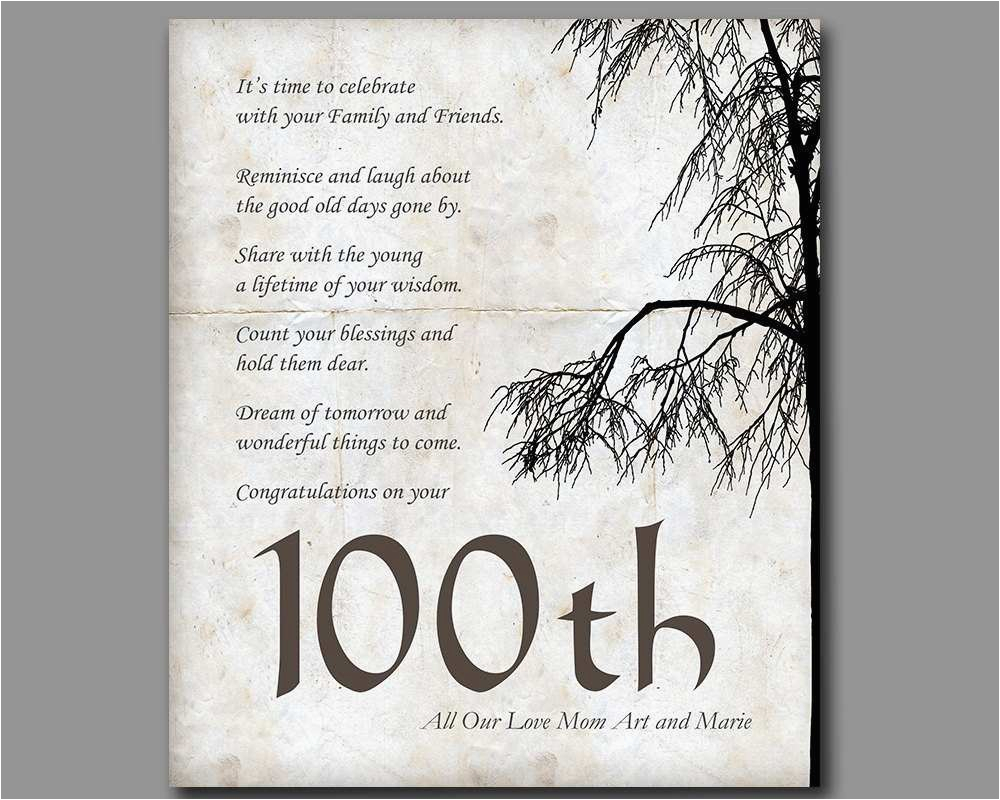 100th birthday 100 years old birthday gift gift from 100 year old birthday card
