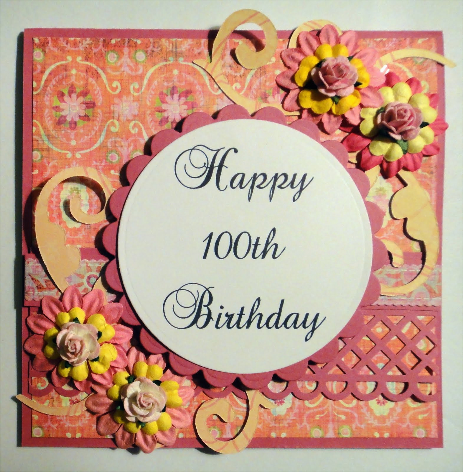 Birthday Card 100 Years Old Time To Create Happy 100th And Magnolia Candy