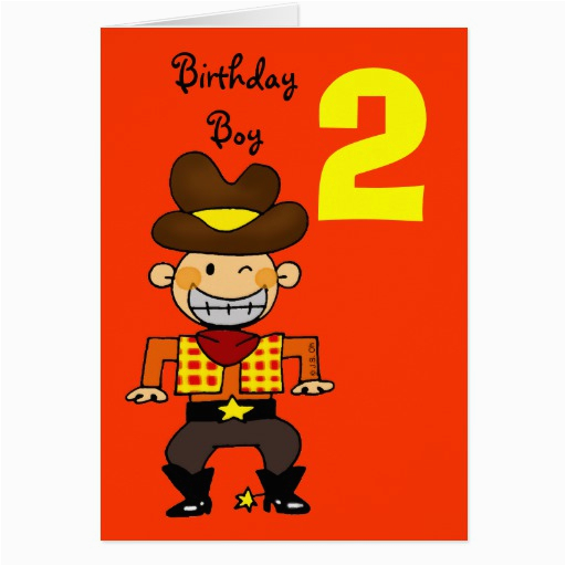 Birthday Card 2 Year Old Boy 2 Year Old Birthday Boy Greeting Card