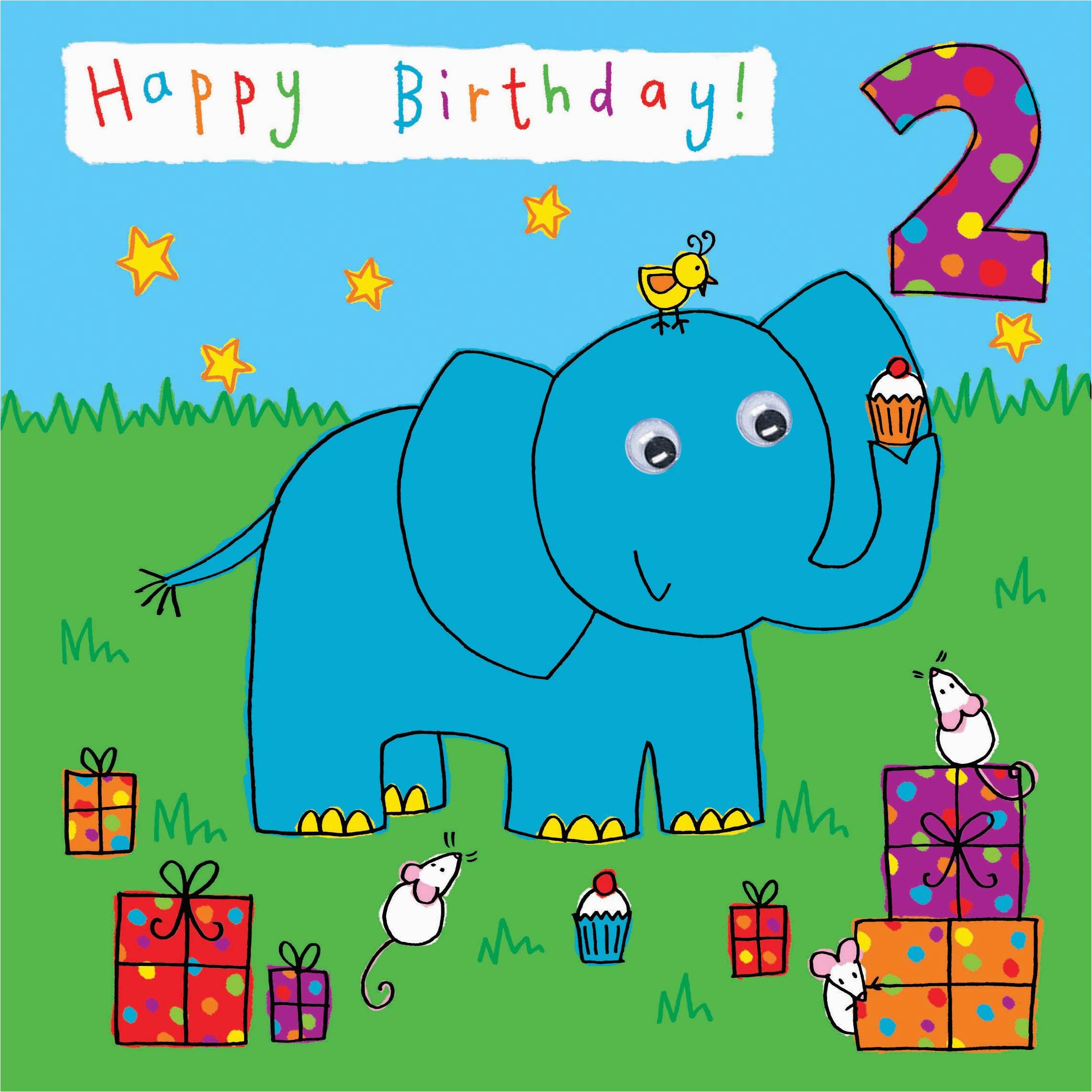 Birthday Card 2 Year Old Boy Kids Cards