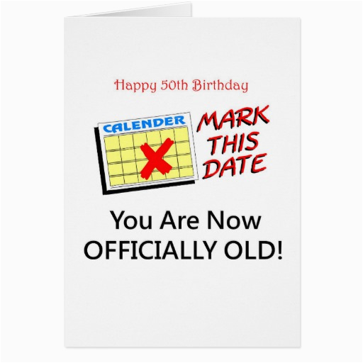 Birthday Card 50 Years Old Cute Year Gifts Greeting Zazzle