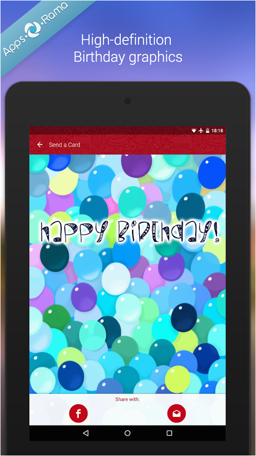 Birthday Card App For Facebook Picture Details Id Com Appsorama Bday