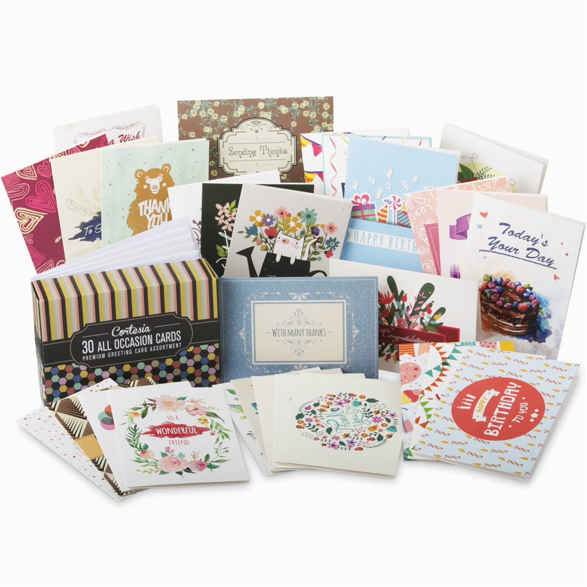 all occasion greeting card set cortesia