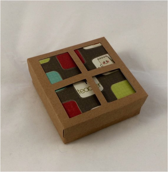 gift box for 3x3 greeting card sets by greetingwithlove on