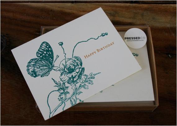 Birthday Card Box Sets Happy Birthday Card Box Set by Pressedco On Etsy