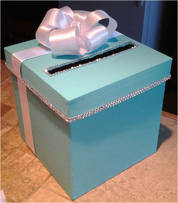card box with personalization for a wedding baby shower