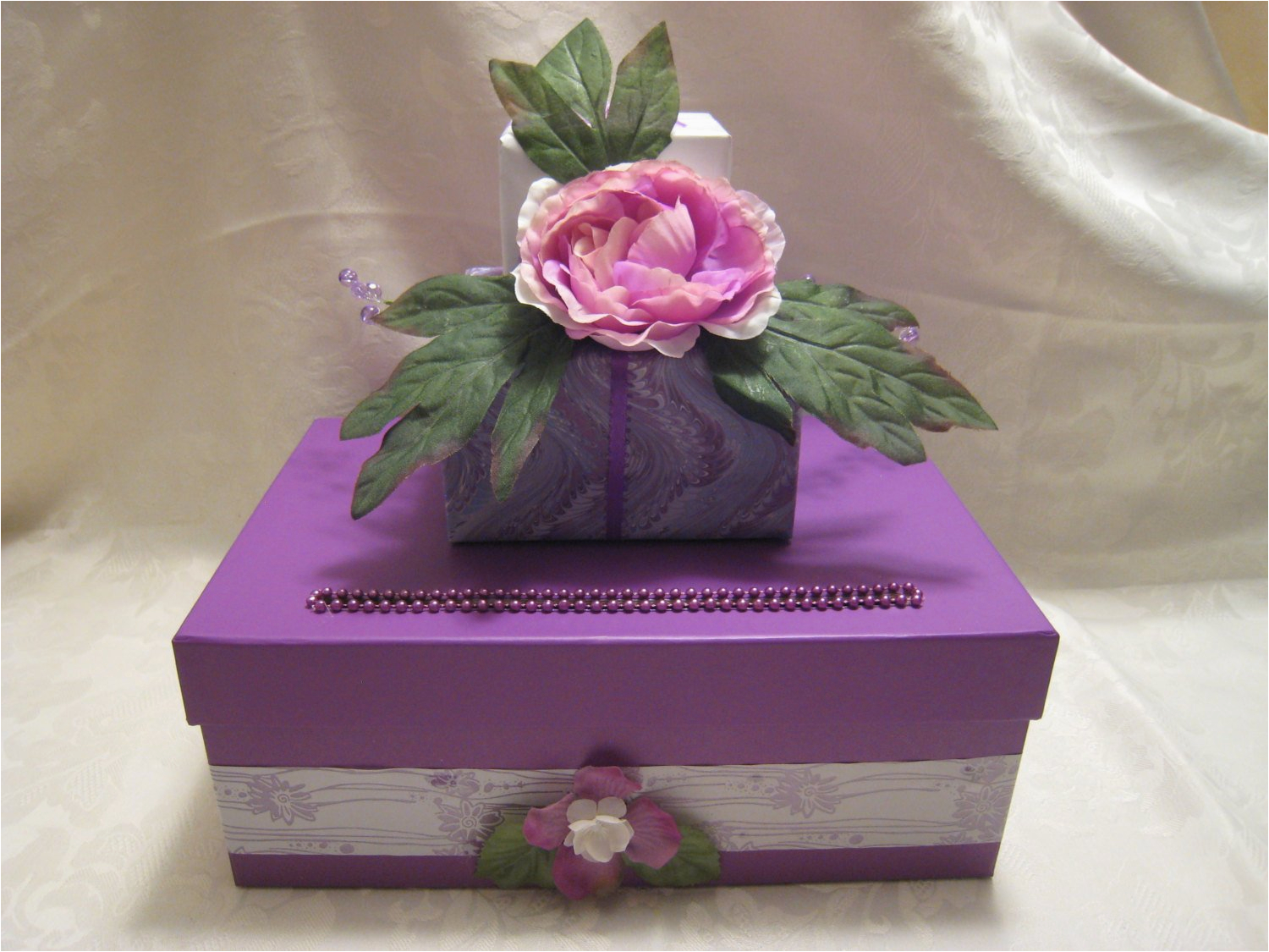 lavendar wedding birthday party card box