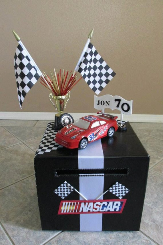 nascar themed birthday card money box custom made