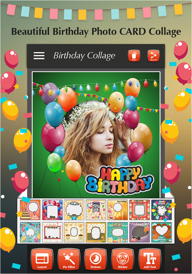 Birthday Card Collage Maker Happy Photo Android Apps On Google Play