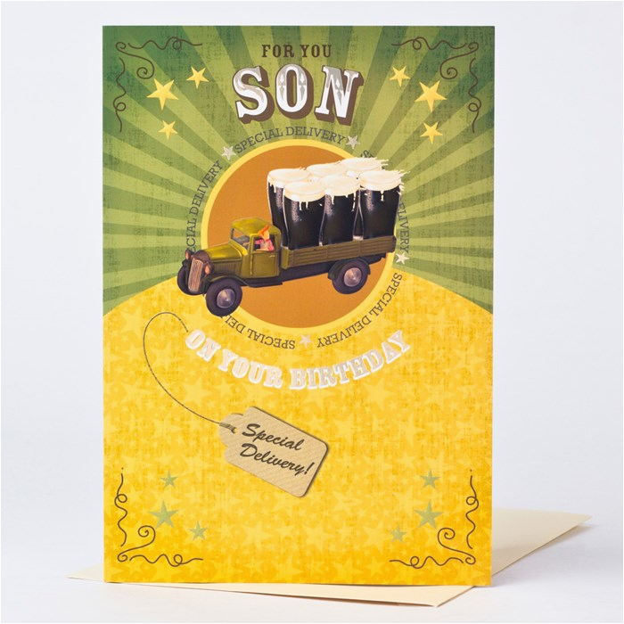 birthday card son special delivery