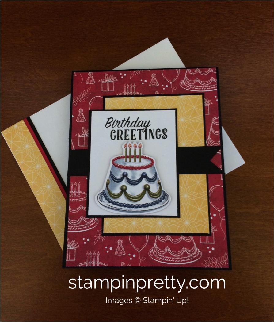 stampin up birthday delivery birthday card